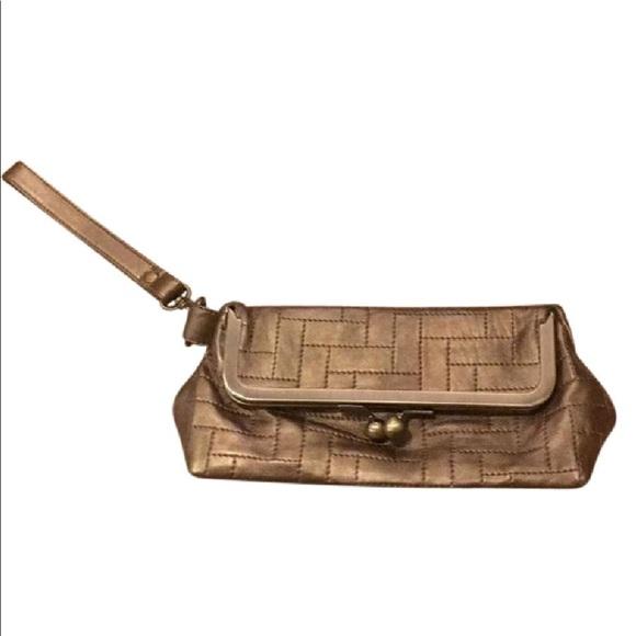 ebe032a3490217 HOBO Bags | International Vintage Gold Leather Clutch | Poshmark